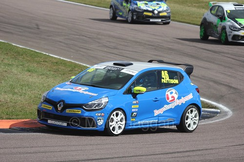 Lee Pattison at Rockingham during the Clio Cup, August 2016