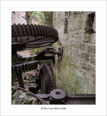 old cogs..... (bevscwelsh) Tags: wheels cogs machinery disused abandoned cornmill olympus1240 olympusem1
