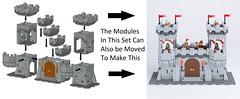 1 Kingdoms Modular Castle Creator smaller (michaelkalkwarf) Tags: castle modularlegocastle modularcastlecreator modularbuildings kingdomscastlecreator kingdomsmodularcastlecreator kingdomscastle legoideas lego ideas modular castlelego creator