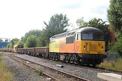 56113 TnT 56302 6C52 (Neil Altyfan - Railway Photography) Tags: 56113 56302 6c52 basfordhall latchford sidings colasrail railvac 997095150055 warrington arpley signal box 270716