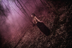 Pauline Gautherot - Ritual Spirit (Accalmia) Tags: smoke woman nude dark darkness melancholy sadness purity pink purple red long hair