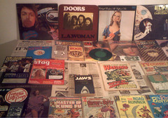 1970's : (Retro King) Tags: 1973 records 1971 retro vinyl albums 1972 magazines comicbooks doors comics newspapers 1975 paperbacks singles collectables 1970s