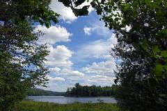 Kakakise lake, Killarney Provincial Park, Ontario, Canada (alex_7719) Tags: ontario canada killarneyprovincialpark killarney hiking lake pond water trees clouds       kakakise