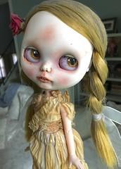 New Clothes for Tuppence (Chassy Cat) Tags: blackribbon black ribbon blythe undead creepy art doll custom takara teeth zombie