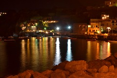 Ischia by Night (Chiara Coppola Photography) Tags: ischia italia notte mare barca luci nikonitalia esposizionemanuale nikond3100