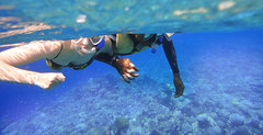 Siv and Dius holding hands (Sven Rudolf Jan) Tags: snorkelling corals tufi papuanewguinea
