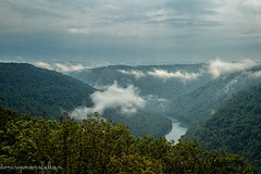 Overlook from Coopers Rock (Singing Like Cicadas) Tags: outdoors nature weather appalachia onethousandgifts fog mountains river valley cheatriver 2016 autumn september westvirginia monongaliacounty overlook landscape scenic