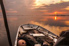 While At Office Said Fisherman (Azizasrar Photoghraphy) Tags: backtonature naute sun sunrise nikon tokina amateurtobepro slowshutter lake ocean tumpat fihserman