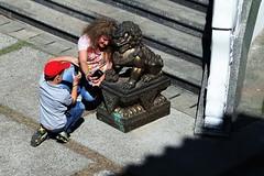 """Selfie com o dragão (José Argemiro) Tags: faith monastery religion buddhist temple monk religião fé templo monastério monge """"zu lai"""" """"são paulo"""" cotia brazil budismo budista estátua escultura dragão dragon"""