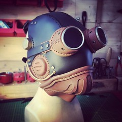 Goggles optional. #Cyberpunk #CyberGoth #postapocalyptic #postapocalypse #steampunk #steampunkmask #leathermask #handmade #LARP #dieselpunk #leather #Darkart #costume #larping (tovlade) Tags: face mask cyberpunk cyber goth make up goggles girl punk postapocalyptic postapocalypse black steampunk leather hand made larp cybergoth dieselpunk plague doctor