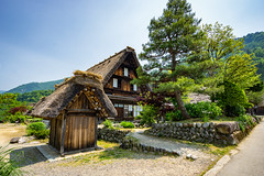The Old Houses (Pikaglace) Tags: sony a7 shirakawa japan japon traditional architecture japanese straw wood bois paille tree arbre