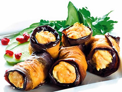 Eggplant rolls with walnuts (familyherbalhealth) Tags: eggplant food organic recipes