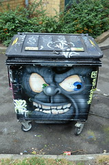 Nasty Bin (dhcomet) Tags: public london talented talent spraypaint painting art streetart bin wheeliebin nasty decorated