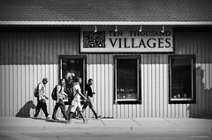 Stepping. Leamington, ON. (Pat86) Tags: photooftheday leamington street photography blackandwhite four men walking stepping workers