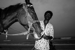 Marina Beach, Chennai, 2016 (bmahesh) Tags: marinabeach chennai tamilnadu india people life beach horse ricohgr wwwmaheshbcom