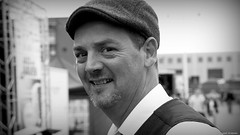 Jazz man (jaap spiering | photographer) Tags: jaapspiering jaapspieringphotographer jaapspieringfotografie blackandwhite monochrome zwartwit bw noiretblanc streetphotography street people mens mensen gx8 denhaag thehague 070 holland netherlands portret portrait