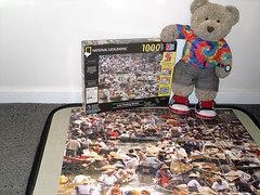 Louse? Louse?? (pefkosmad) Tags: jigsaw puzzle leisure hobby pastime cute stuffed soft toy fluffy plush tedricstudmuffin teddy ted bear 1000pieces complete
