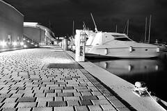 Ne scelgo una e vado ^^ (White cat ..) Tags: black marina relax long exposure mare withe barche porto bianco tempo nero grosseto notte lungo