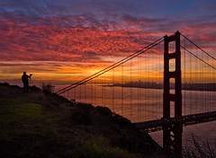 Serenity (mikeSF_) Tags: ocean california road county bridge pink sunset sky seascape mike clouds sunrise landscape photography golden bay gate san francisco photographer pacific pentax hawk marin hill battery alcatraz spencer limited sausalito k5 ggnra oria conzelman da15