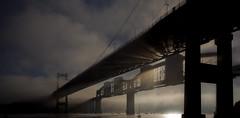 tamar mist (yadrad) Tags: sun mist cornwall devon rays suspensionbridge tamar railwaybridge brunel roadbridge tamarbridge canoneos5dmarkii