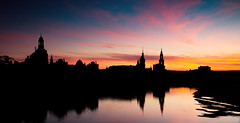 The sun will set for you! (fresch-energy) Tags: blue sunset shadow red sun reflection rot tower colors silhouette skyline clouds river dresden colorful sonnenuntergang sundown sony towers wolken blau fluss turm sonne schatten spiegelung elbe bunt trme farben gegenlicht a77