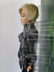 Sergeant Calhoun LE 17'' Doll - First Look - Deboxing - Attached To Backing - Midrange Right Side View (drj1828) Tags: doll personal calhoun limitededition sgt disneystore sergeant 17inch deboxing wreckitralph