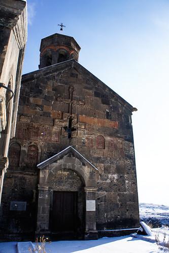 13th century Saghmosavank monastery
