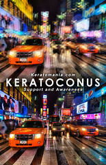 Keratoconus Vision Poster - (Times Square by Spreng Ben) (Keratomania) Tags: glare timessquare ghosting keratoconus multipleimages nearsightedness lightsensitivity visionsimulation sprengben keratoconusvision monoculardiplopia irregularastigmatism