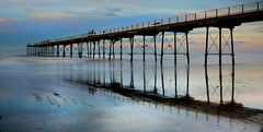 Saltburn sunset. (jimsumo999) Tags: longexposure sunset canon eos rebel pier seaside northyorkshire xsi saltburn 450d jimsumo999 yahoo:yourpictures=yourbestphotoof2012 yahoo:yourpictures=coastal