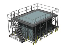 Modular wrap-around work platforms