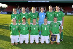 Northern Ireland ladies World Cup Football Squad .. August 2010. (mrvisk) Tags: irish girls women green white army smiles glentoran ground pride proud soccer ulster glory challange happy belfast east our wee country oval stadium competition old history pic groupshot mrvisk 2010s people outdoor team home strip boots sport