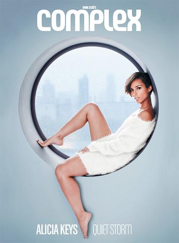 ALICIA KEYS COMPLEX MAGAZINE COVER . Alicia Keys  on the cover of complex magazine dec issue also on the cover is asap rocky