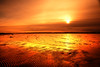Molten Sunset (juliereynoldsphotography) Tags: sunset sea reflections sand wirral hilbreisland westkirkby juliereynolds