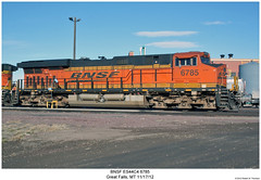 BNSF ES44C4 6785 (Robert W. Thomson) Tags: railroad train montana diesel greatfalls railway trains locomotive trainengine ge bnsf burlingtonnorthernsantafe gevo es44 evolutionseries sixaxle es44c4