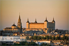 Alcazar de Toledo @ sunset | Spain (Stefan Cioata) Tags: light sunset sky cloud tree history beautiful horizontal stone museum architecture outdoors photography golden photo spain nikon europe image fort dusk sale library great stock citylife tranquility nopeople landmark best stefan explore spanish toledo alcazar getty destination top10 fortification nationalist regional available lore d800 outstanding mancha castillala traveldestinations colorimage famousplace toledospain buildingexterior touristical moscard toledoprovince humansettlement cioata