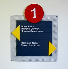 Interior Wayfinding Wall Mounted Sign