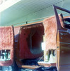 The shag bar and beaded bed in my Dad's custom Dodge (wambamashleyanne) Tags: california film kodak van 1970s furburger