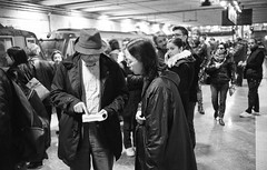 (Follow the Map) (Robbie McIntosh) Tags: leica people blackandwhite bw film monochrome hat analog train 35mm underground subway japanese kodak bokeh map candid trix streetphotography rangefinder stranger tourists bn passengers summicron negative 400 fedora analogue m6 2stoppush biancoenero argentique leicam6 dyi selfdeveloped pellicola kodaktrix400 analogico leicam6ttl emofin leicam filmisnotdead circumvesuviana autaut leicasummicron35mmf20iv twobathdeveloper tetenalemofin leicasummicron35mmf2iv summicron35mmf20iv pushed1600iso