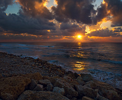 Rocky Shore (NatashaP) Tags: sea sun beach clouds rocks nikond800