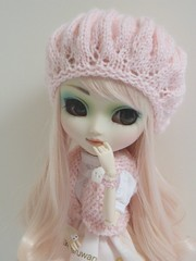 Kimiko(Pullip Prunella) (Lili-Cupcake) Tags: white me make up rose by handmade s yeux wig pullip custom luts kimiko custo prunella tenue marrons sbh obitsu eyeco acryliques