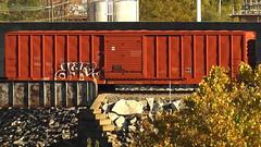 DYKE (BLACK VOMIT) Tags: car train graffiti box boxcar dyke dlr freight