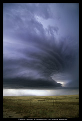 Roy, New Mexico Supercell on June 3, 2003 (SamInDallas) Tags: cloud storm newmexico roy field rain weather hail fence farm thunderstorm dust thunder severe june32003 cumulonimbus hailstorm barricklow supercell