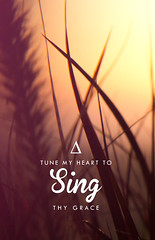 Tune My Heart - Available to purchase on Society 6 (Lauren B Lewis) Tags: nature typography graphicdesign grace sing hymn lyric inspiks