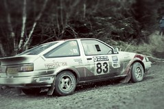 Midgley Motor Sport's Toyota Corolla AE86 at the RAC 2012 (Chris McLoughlin) Tags: toyotacorollaae86 chrismcloughlin sonya580 snapseed williammidgley racrally2012 jonathandriver midgleymotorsport