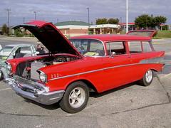 1957 Chevy Wagon (splattergraphics) Tags: wagon chevy 1957 carshow stationwagon customcar glenburniemd autismspeaks ghostryderz centreatglenburnie