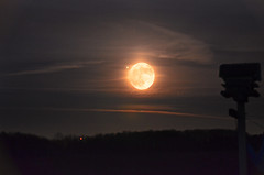 Full moon with added Jupiter (gerrybuckel) Tags: moon space full explore planets nightsky jupiter lunar absolutemichigan
