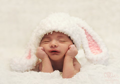Sleepy Baby Bunny (Rawan Mohammad ..) Tags: old boy baby 3 bunny photography sleep newborn weeks mohammad  rawan