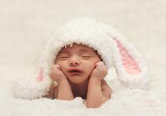 Sleepy Baby Bunny (Rawan Mohammad ..) Tags: old boy baby 3 bunny photography sleep newborn weeks mohammad محمد rawan روان المصورة ٢٠١٢