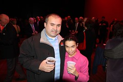 WaterFire Production Manager Elvis Custodio and his daughter Haley