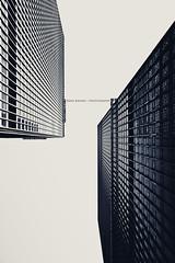 Bridging the Gap (Ernie Kwong Photography) Tags: bw toronto architecture canon blackwhite towers gap financialdistrict torontodominioncentre ef1740mmusml